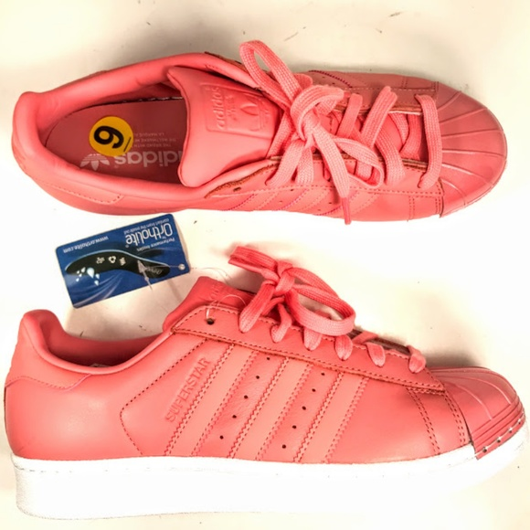 finest selection d2884 1fa39 ADIDAS ORIGINALS SUPERSTAR metal toe rose pink 7